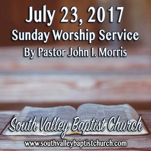 Sermon July 23 2017