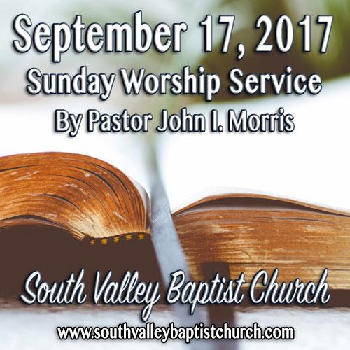 Sermon September 17 2017
