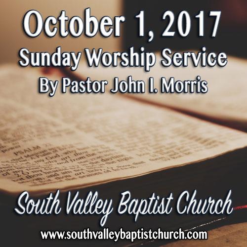 Sermon October 1 2017