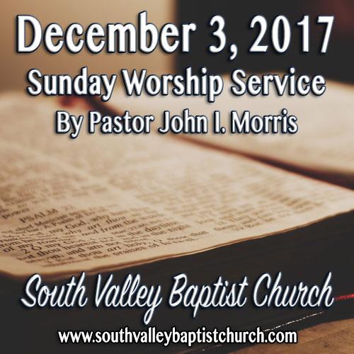 Sermon December 3 2017