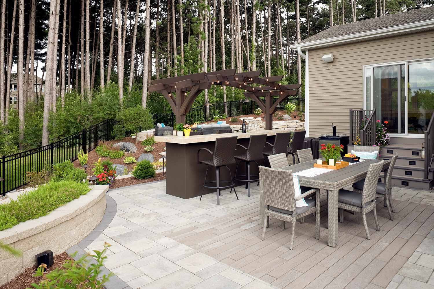 No-Mow Forest Backyard in Inver Grove Heights | Southview ... on Paver Patio Designs id=77749