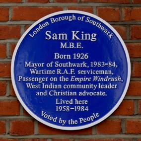 Sam King blue plaque
