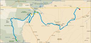 Gereden: 425 km.