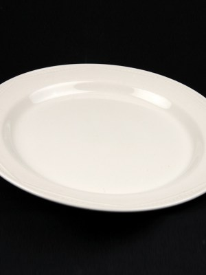 "DINNER PLATE 11""WHITE CROCKERY HIRE"