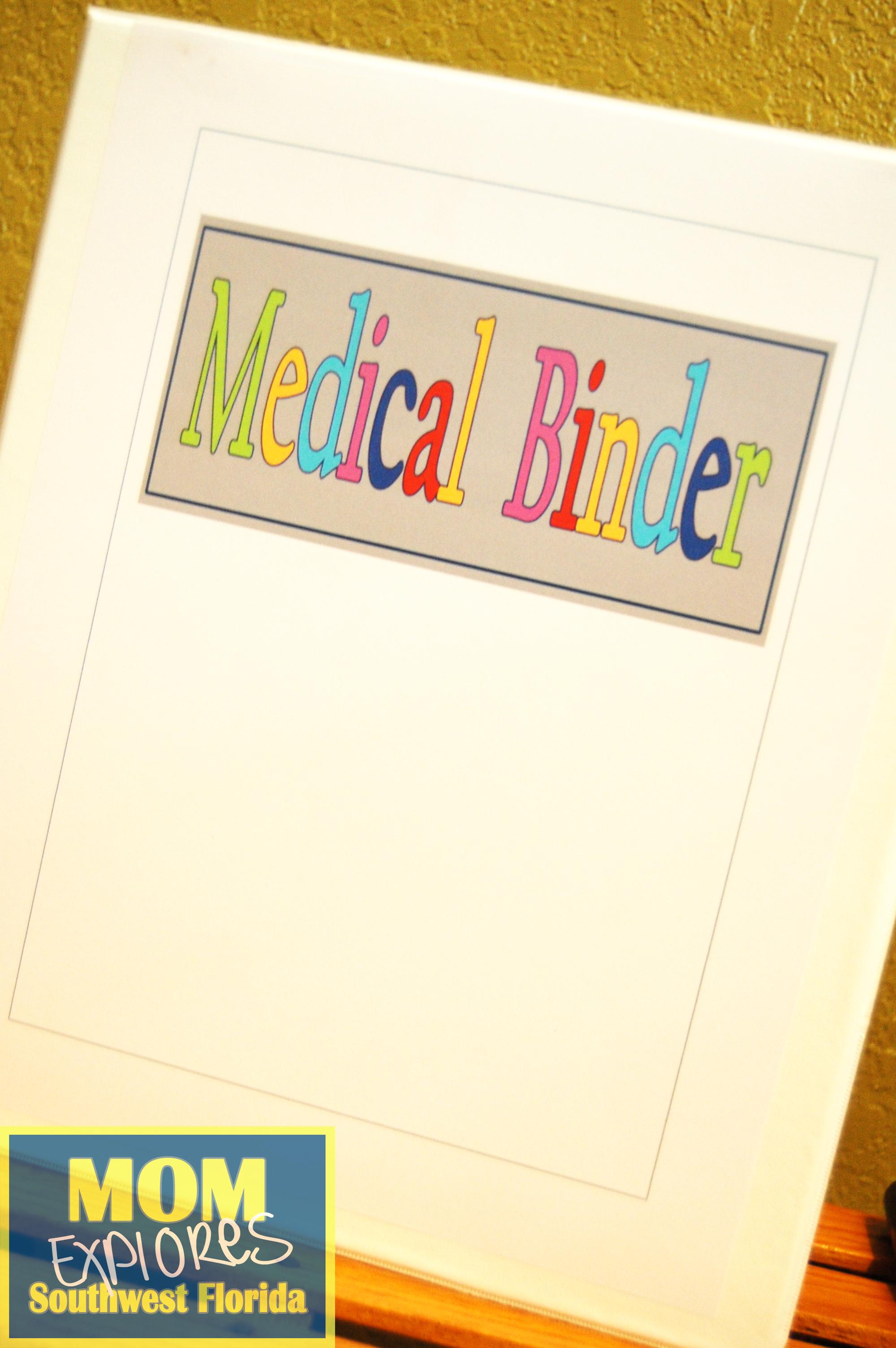 medical binder free printables