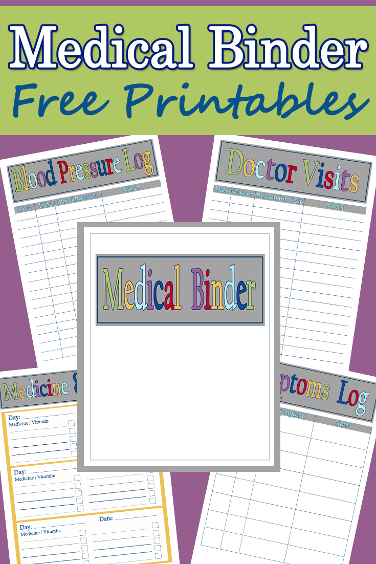 photo relating to Free Binder Printables identify Clinical Binder Printables - Mother Explores Southwest Florida