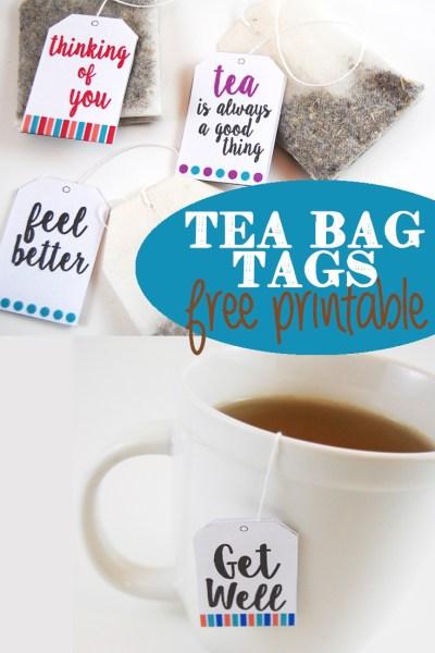 Tea Tag Printables