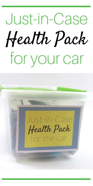 Just in Case Health Pack for your car