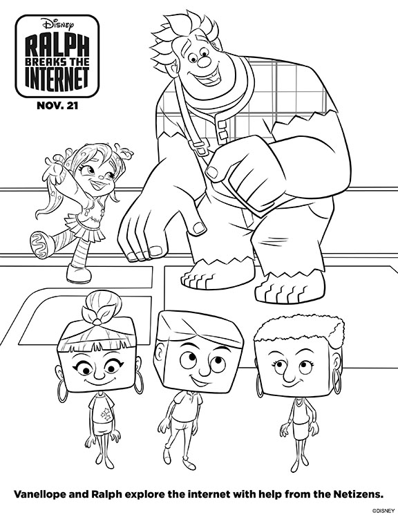 Ralph Breaks The Internet Coloring Pages Printables