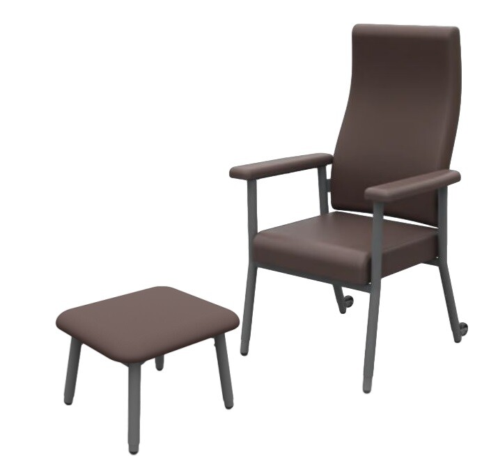 Katie High Back Adjustable Chair with Stool