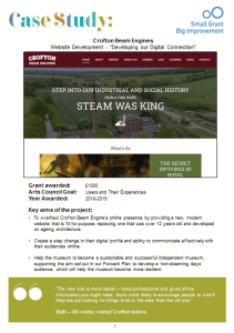 screenshot case study - Crofton