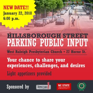 Hillsborough Street Parking Public Input Meeting @ West Raleigh Presbyterian Church | Dover | New Hampshire | United States