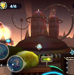 Cordy jumps from ledge to ledge in order to move forward in the level.<br>Rating: B<br>Courtesy of Silvertree