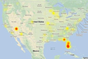For 48 hours, CenturyLink experienced a nationwide internet outage, effecting local Las Vegas.<br>Courtesy of Downtime.com
