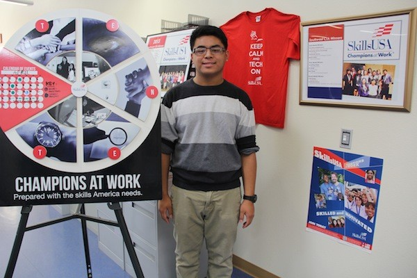 """SkillsUSA members have assigned spirit days for Tuesday, Wednesday, Thursday, and Friday in celebration of SkillsUSA week. All students and teachers are encouraged to participate in these spirit days just like any other spirit week for school dances. """"I'm excited for the spirit days! I hope everyone in the school participates,"""" SkillsUSA President Austin Ynigo said.  Photo Credit: Bree Eure"""