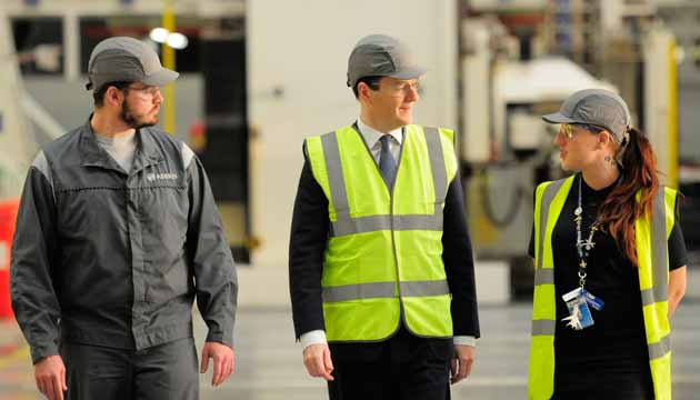 Gosha accompanies George Osborne at Airbus in Filton