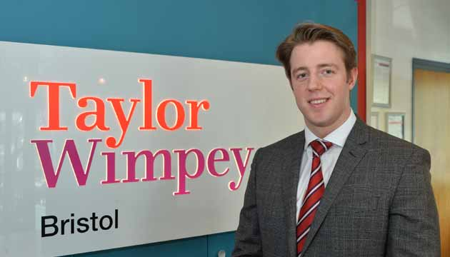 Jack Stephens at the Taylor Wimpey offices in Bristol