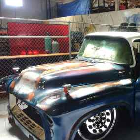 sideview sema pickup truck