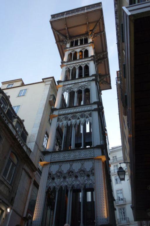 Lisbon portugal giant elevator