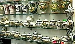 souvenier shopping Florence ceramics inside shop 2