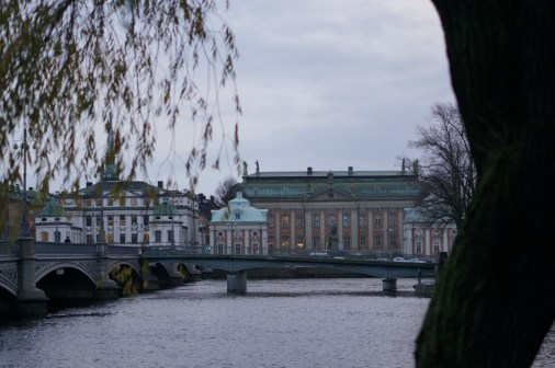 gamla stan bridge winter buildings