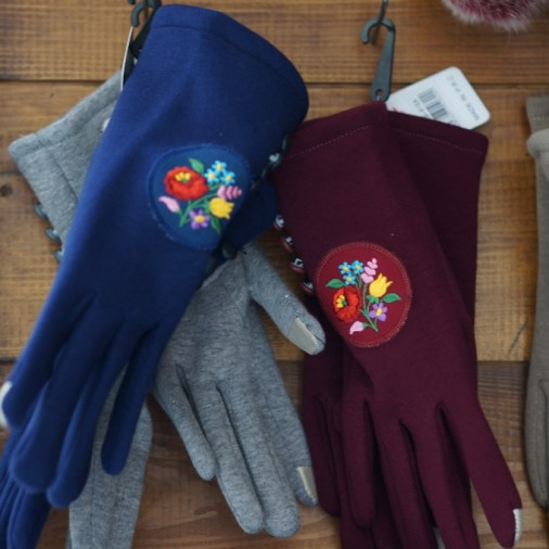 budapest souvenir hungarian embroidery gloves handmade craft christmas market fair