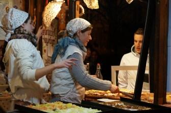 pizza budapest christmas market fair