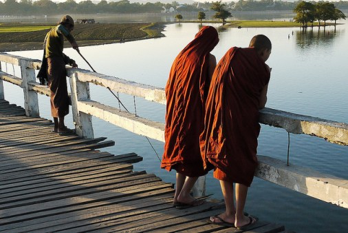 burma monks bein bridge