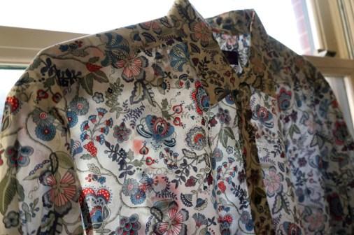 liberty London men's shirt floral design souvenir