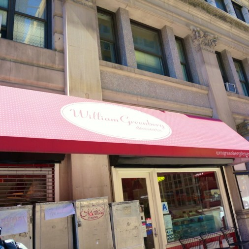 William Greenberg Desserts store front on Madison Avenue