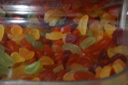 Swedish colorful jelly candys