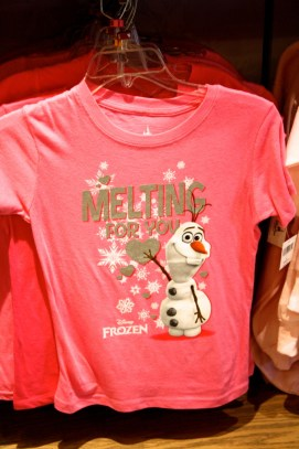 Frozen Olaf snowman t-shirt melting for you
