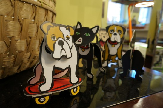 day trip to Lambertville NJ Blue Raccoon home decor cut out cardboard dogs
