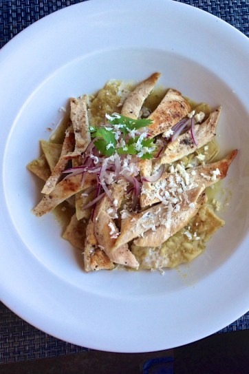After juicing don't miss these scrumptious chilaquiles verdes.