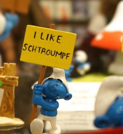 Brussels belgium comics smurf toys kids figurine