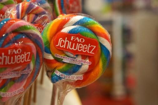 FAO Schwartz NYC toys kids candy lollipop
