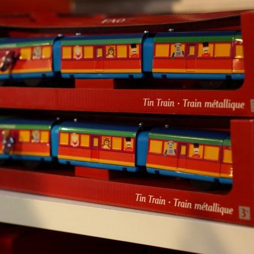 FAO Schwartz NYC toys kids tin train