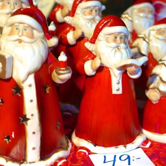 Stockholm Sweden Christmas Market Kungstradgården ceramic santa