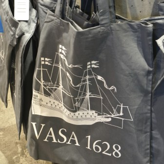 Simple but tasteful Vasa shopping bags.