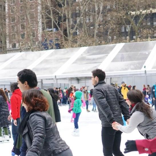 bryant park skating rink nyc holiday christmas market winter wonderland