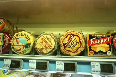 French Supermarket Souvenir Monoprix Cheeses