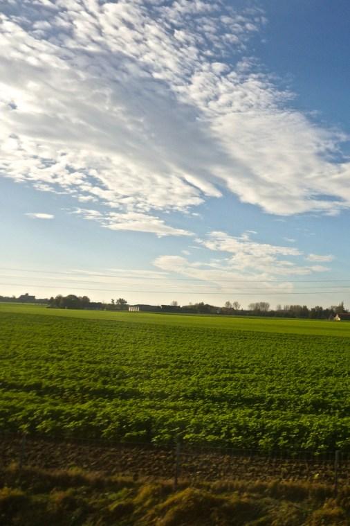 Views from a Eurostar train