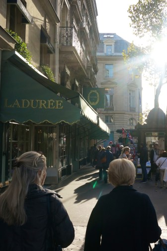 Visiting Laduree Paris macarons place de madelaine