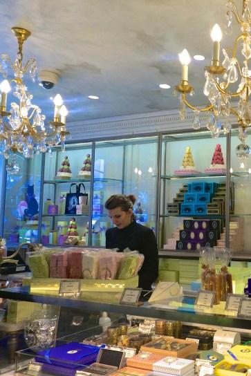 Buying macarons Laduree Paris souvenirs
