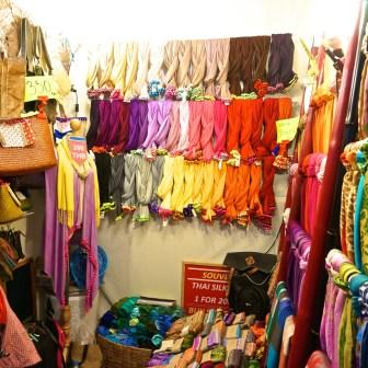 Best Thai Souvenirs Shopping Bangkok Jj Chatuchak Market Scraf Stall