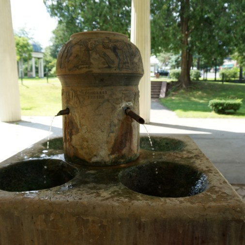 Congress Park Saratoga Springs Water Fountains