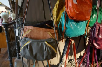 It was hard to choose among the many adorable options in this Parisian handbag shop. (Marais).