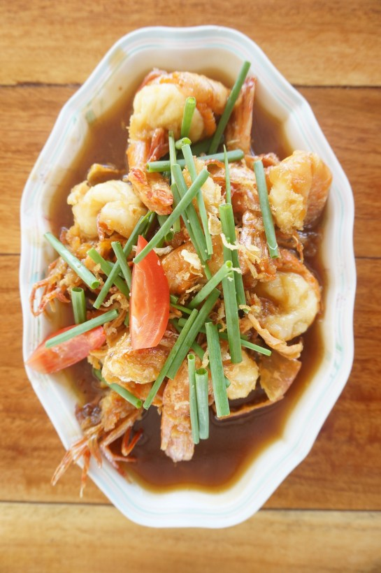 Fried Shrimp in Tamarind sauce.
