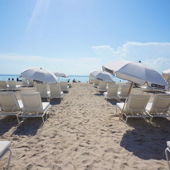 Plenty of beach chairs for lounging.
