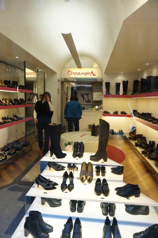 Local shoe shop in Milan